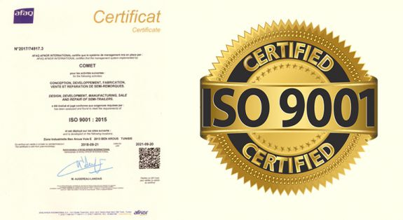 CERTIFICATION ISO 9001 V2015